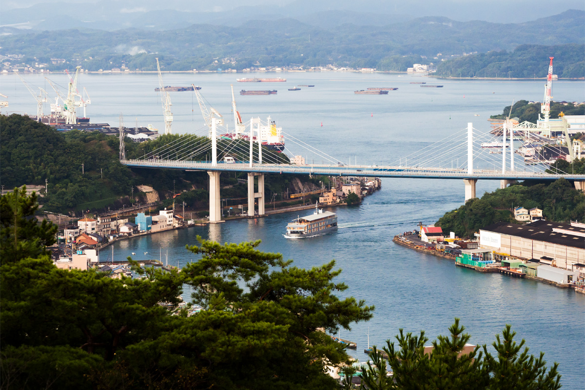 A two-day voyage to cruise the Seto Inland Sea