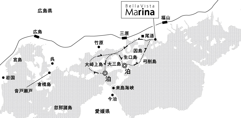 ちいさな島々を繋ぐ、海の道を巡る旅 大三島沖・伯方島沖錨泊3日間