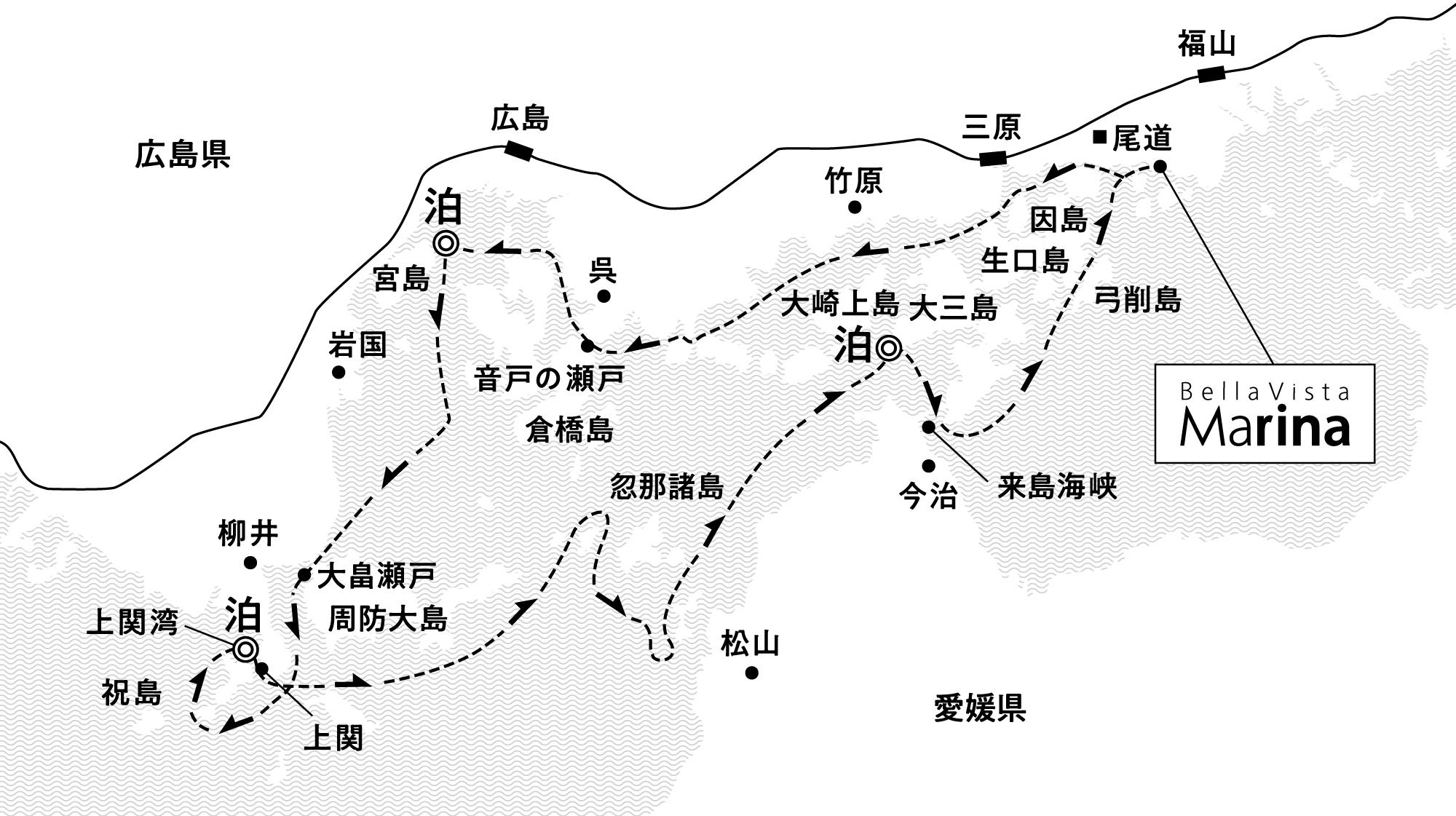 世界遺産と島の古き良き風景に和む 宮島沖・上関沖・大三島沖錨泊4日間<br>(2022年出発分)