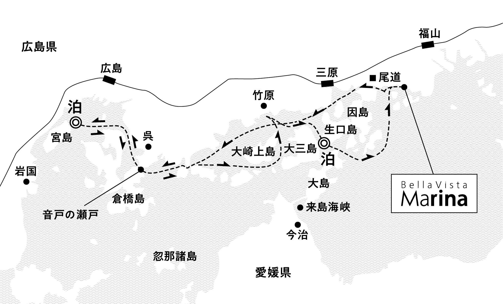 悠久の歴史と文化にせとうちを知る 宮島沖・伯方島沖錨泊3日間