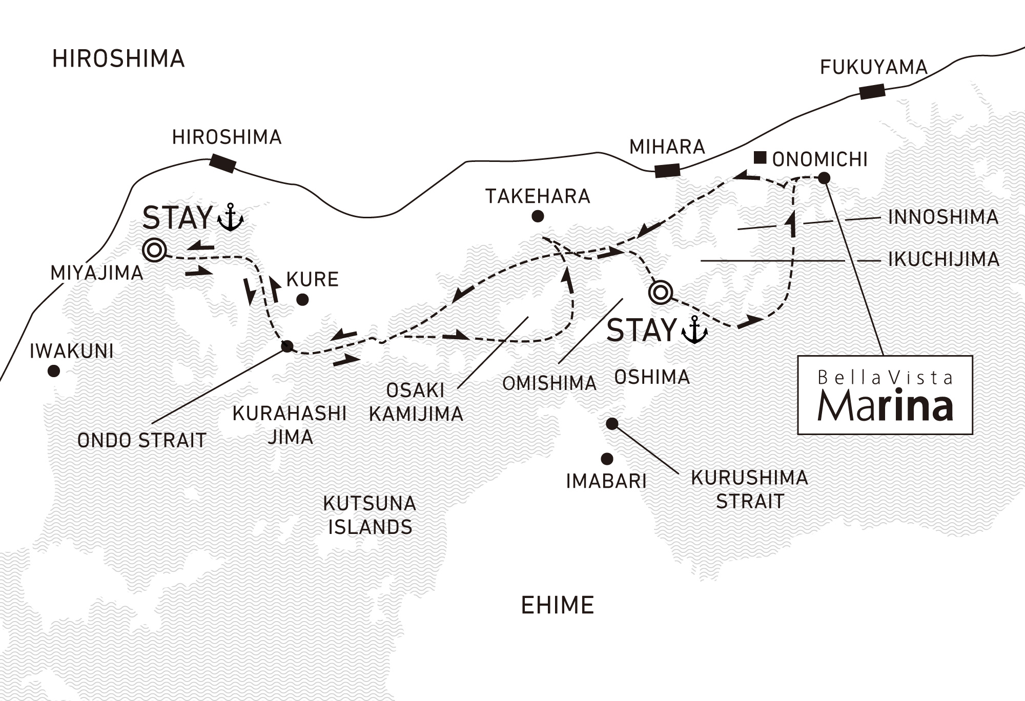 A three-day voyage to discover Setouchi through its timeless history and culture 2 nights / anchor offshore at Miyajima and Hakatajima